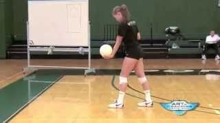 jump serve volleyball - YouTube