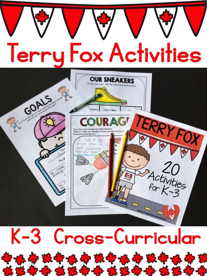Terry Fox Activities for K-3: literacy, math, mapping activities and more!!