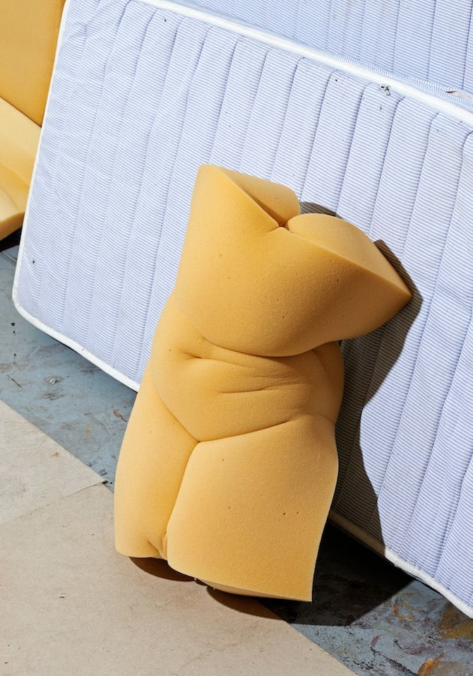 Foam rubber torso By Matthieu Lavanchy, Swiss photographer and set designer currently based in Paris.