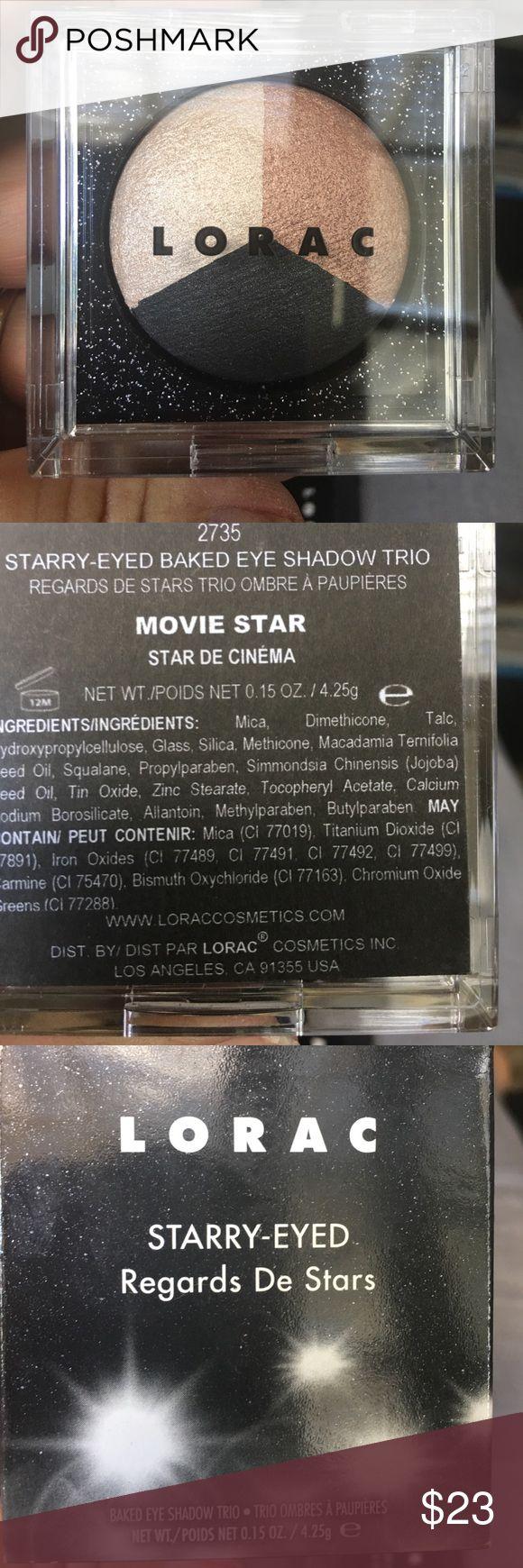 LORAC eyeshadow trio in Movie Star LORAC eyeshadow trio in Movie Star. New never used or touched LORAC Makeup Eyeshadow