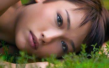 belleza, mujer asiatica