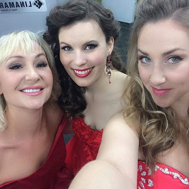 Katya, Erin, and Anna ~ All ready to go on stage and sing our hearts out! https://instagram.com/officialvivamusic/