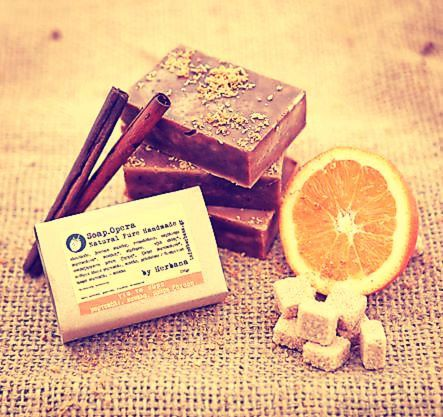 Lovely natural soap for exfoliation and deep cleansing the entire body!  With precious oils like olive and coconut oil that give hydration and