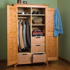 Image result for fine woodworking wardrobe plans