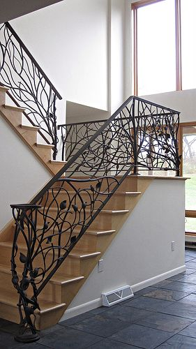 Making a Tree Branch Railing | The tree railing is the perfect addition to any nature-lover's home ...