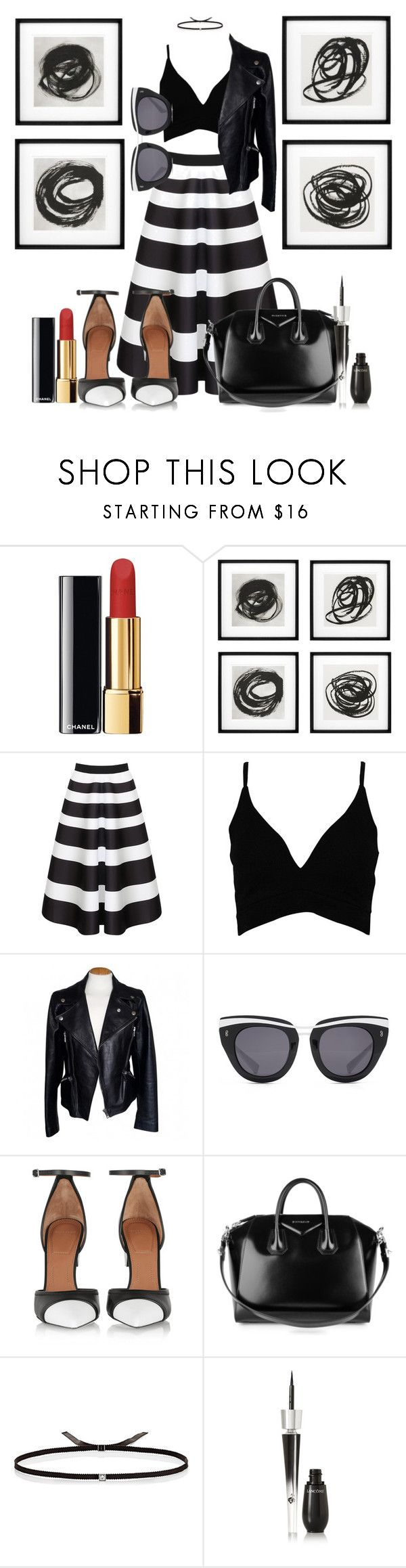 """""""100. Black & White"""" by giusysal ❤ liked on Polyvore featuring Chanel, Eichholtz, WithChic, Boohoo, Alexander McQueen, HOOK LDN, Givenchy, Ileana Makri and Lancôme"""