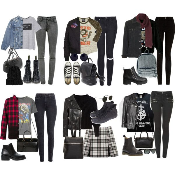 Grunge/ Hipster Outfits by fivesecondsofinspiration on Polyvore featuring Junk Food Clothing, Marni, And Finally, MANGO, Topshop, AllSaints, Yves Saint Laurent, H&M, J Brand and Carven