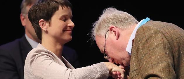Parteitag in Köln: Verabschiedung mit Handkuss: Gauland verpasst Petry die finale Demütigung