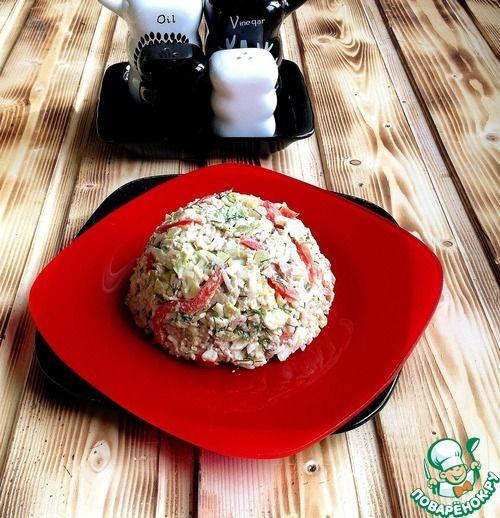 """Салат из печени трески """"Потрясающий"""" - кулинарный рецепт"""