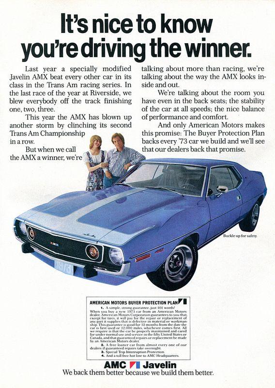 1973 AMC American Motors Javelin AMX Advertisement Hot Rod October 1972 | Flickr - Photo Sharing!