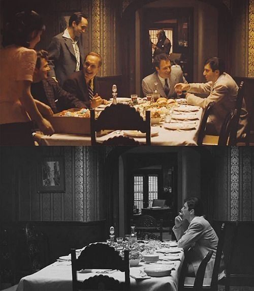 The Godfather, 1972. Another sad part from all three movies, it's a good one though