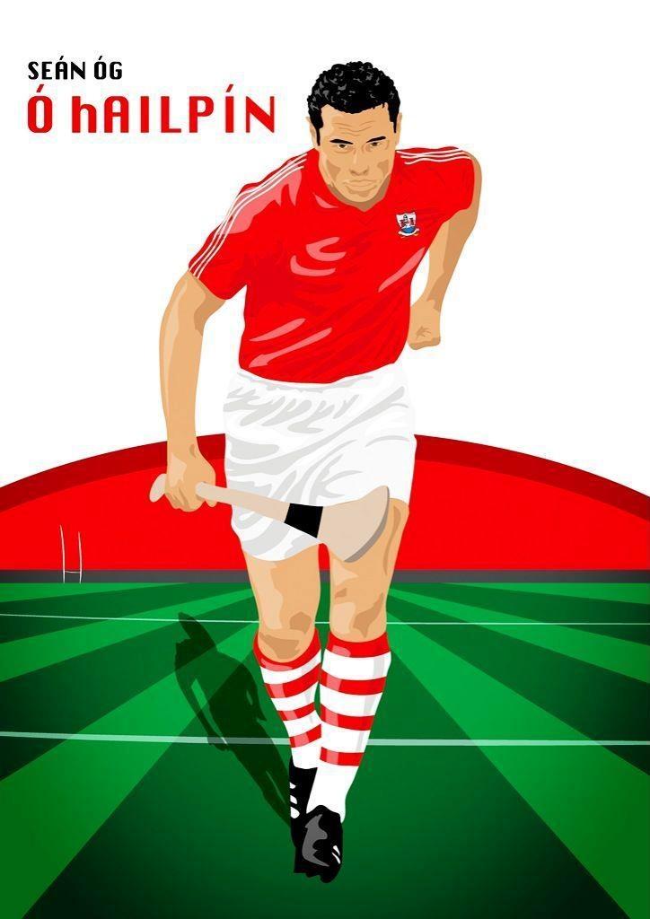 A nice peice of #artwork depicting Cork Rebel Week ambassador Seán Óg Ó hAilpín playing hurling. #Cork
