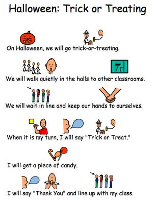 the autism tank trick or treating at school social story - Story About Halloween