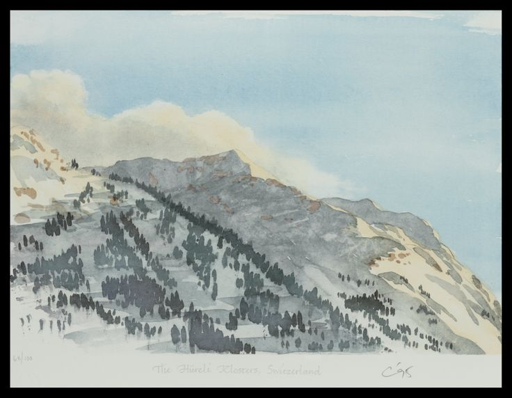 HRH The Prince of Wales The Hureli, Klosters, Switzerland Limited Edition Signed Lithograph 46 x 61 cm £5,500