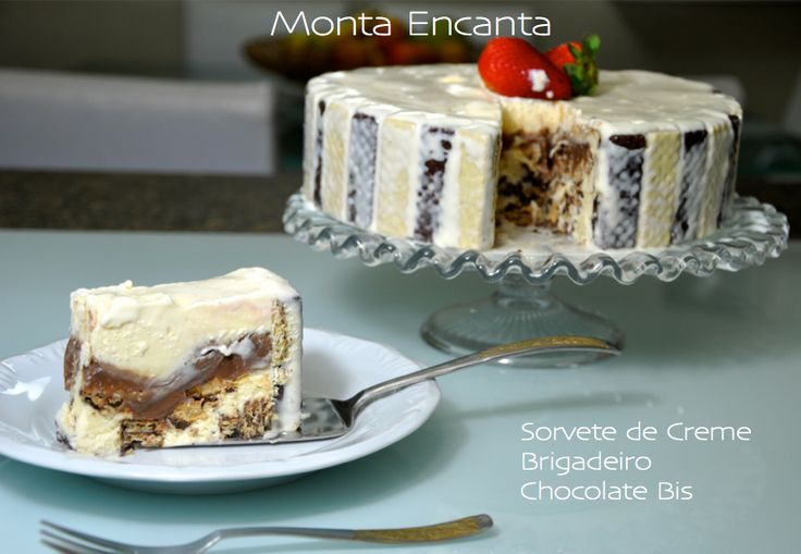 SORVETÃO DE BIS COM 3 INGREDIENTES - Uma das sobremesas mais deliciosas que já fizemos aqui em casa, além de ser fácil e rápida! Só substituímos o sorvete de creme pelo de leite condensado! Ficou perfeito!! (A delicious icy dessert that contains ice cream, brigadeiro and wafer chocolate bars! Perfect and very easy!)
