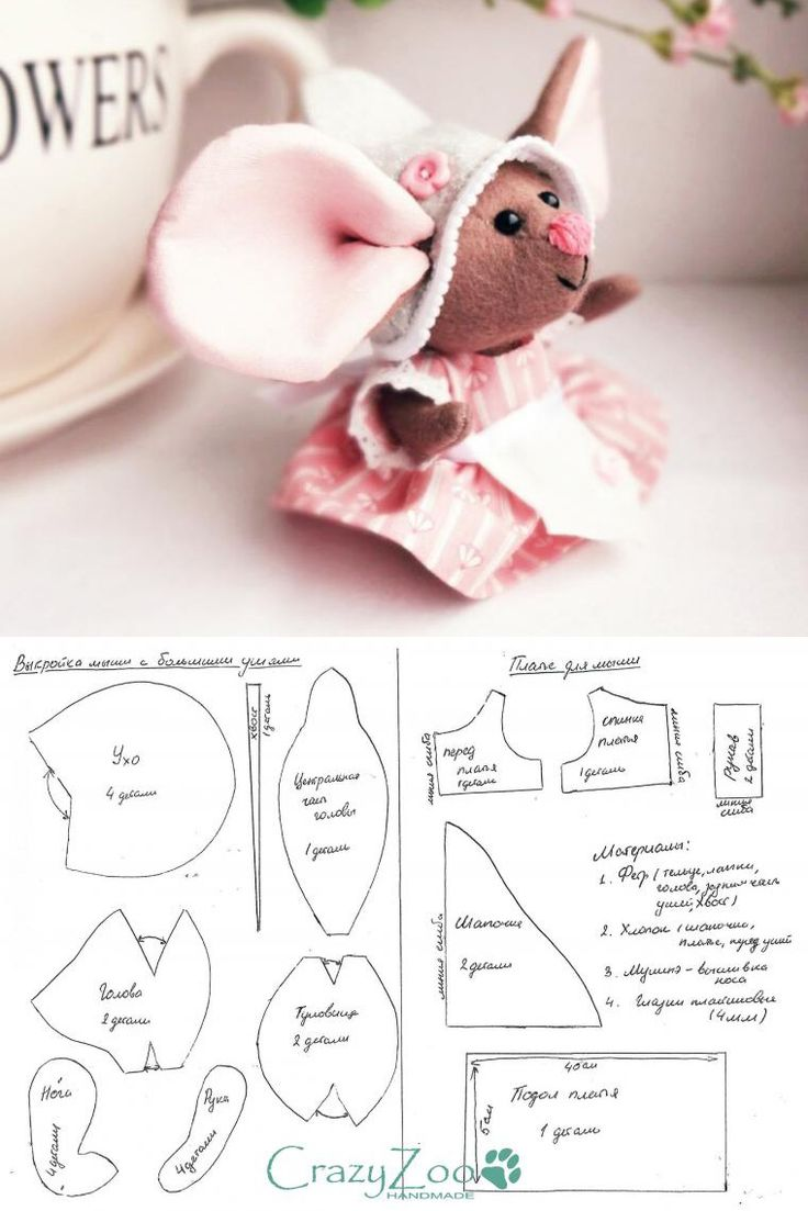 Stuffed mouse pattern. None English.