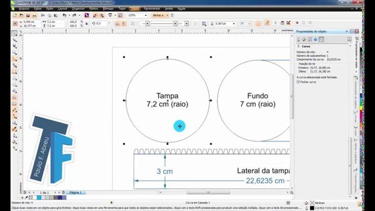 Descobrindo o comprimento da lateral de caixas/ moldes irregulares - Cor...
