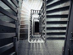 Stairs, Looking Down, House, Walking