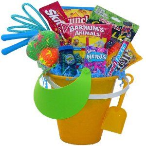 106 best easter baskets boysunisex images on pinterest easter liking this idea just need a bigger basketbeach pail i may include negle Choice Image