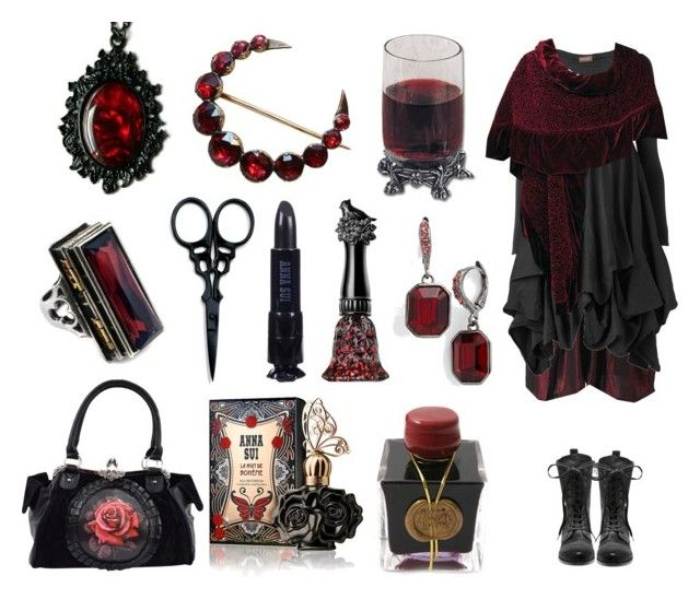 """Penny Dreadful"" by maggiehemlock ❤ liked on Polyvore featuring The BrowGal By Tonya Crooks, Anna Sui, LnA, Phase Eight, Christian Dior, Vince Camuto, Givenchy and Fountain"