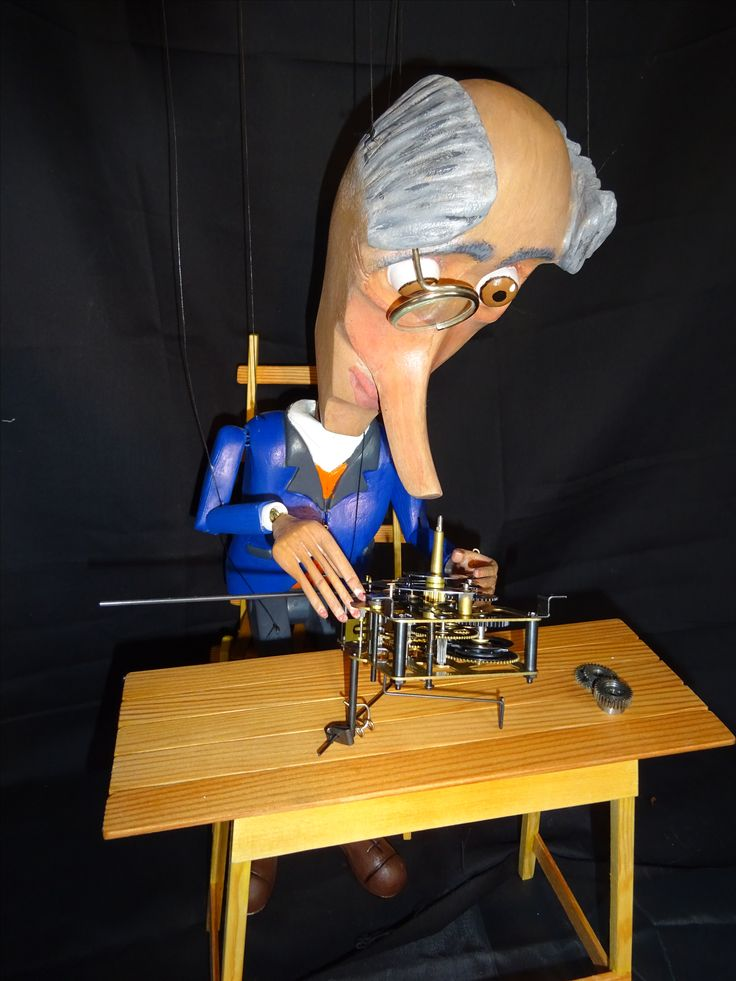 Dr loutky the old watchmaker wondering why two cogs seem