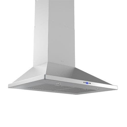 Zephyr ZVE-E36CS 715 CFM 36 Inch Wide Wall Mounted Range Hood with LED Lighting and Baffle Filters from the Essentials Europa, Silver stainless steel