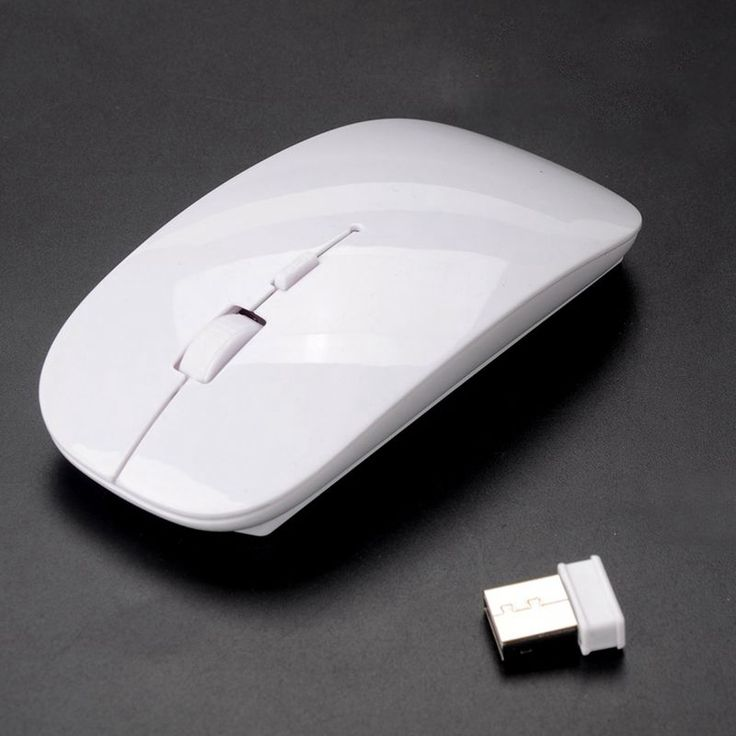 Free Shipping Ultra Slim 2.4ghz Wireless Optical Mouse for Laptop PC 10M USB Household Working Mouses White Y60*SY0019#M5