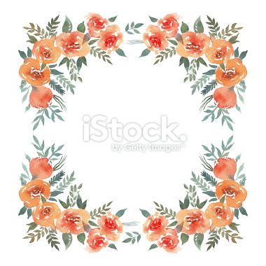 Floral ornament rose watercolor Royalty Free Stock Vector Art Illustration