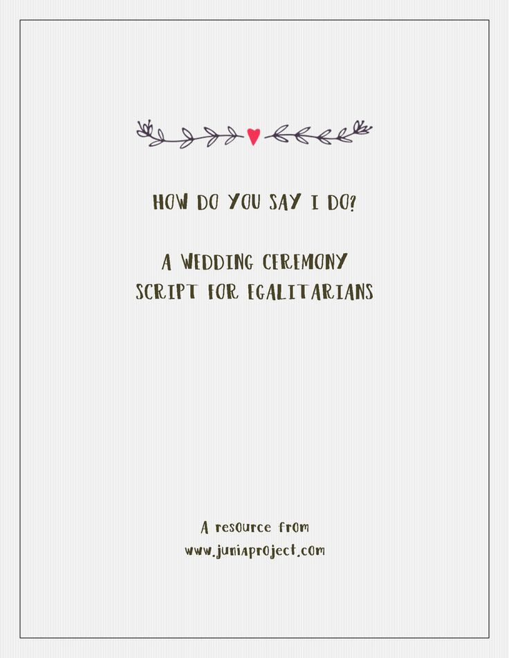 GREAT Ceremony Script And A Good Guide To Follow While Tweaking What Is Actually Said