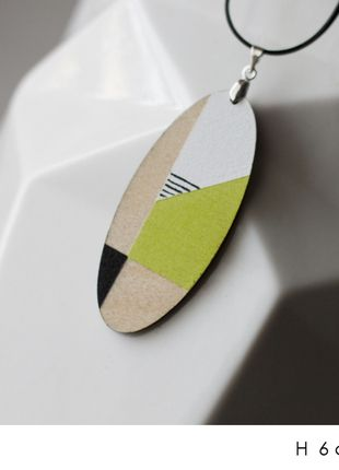 diy handmade necklace pendant minimalism geometric