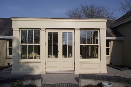 Example of Munster Joinery windows in Ivory...like the color.  N. Architect Designed Suburban Refurb