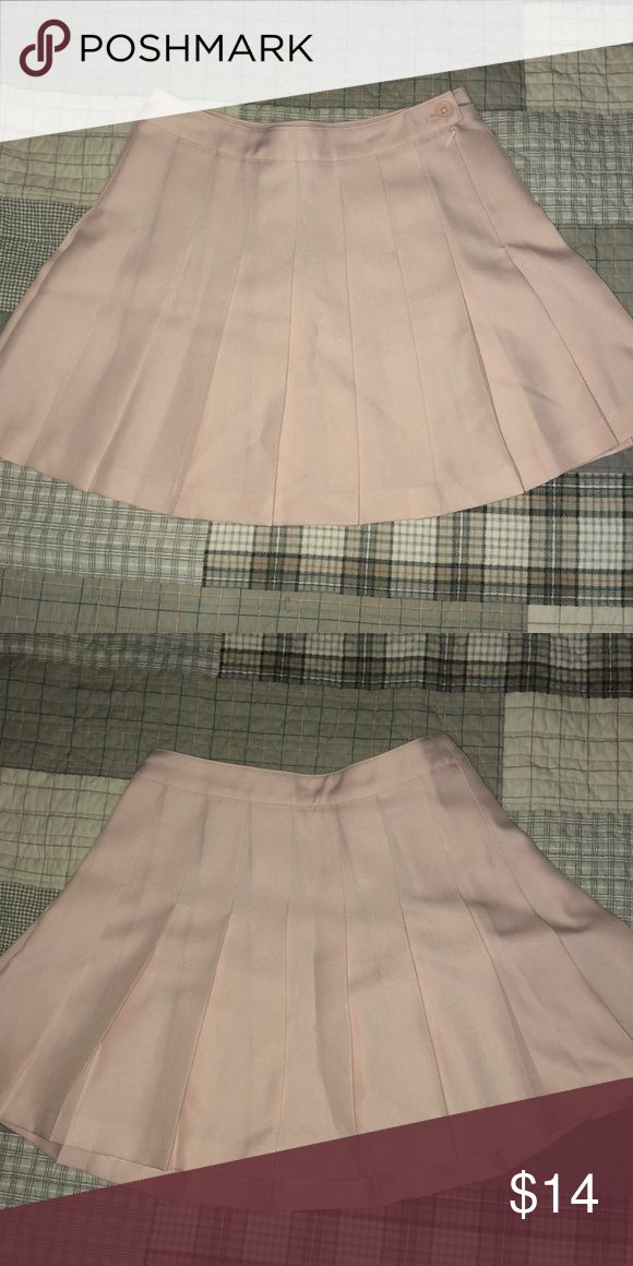 Pastel Pink Schoolgirl Pleated MiniSkirt Cute pastel pink pleated miniskirt- very lightly worn (only once or twice), only selling because I have multiple in this color! Forever 21 Skirts Mini