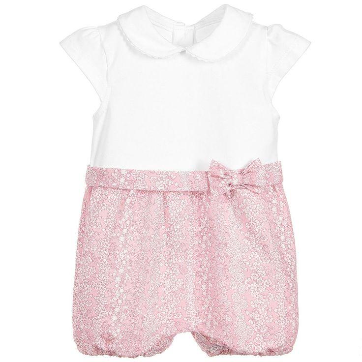 Malvi & Co Isi Baby - Baby Girls Pink & White Shortie |