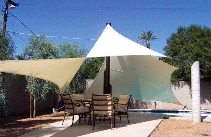 Sonnensegel Sonnenschutz Regenschutz in Rechteck- Quatrat- Dreieck 100%Polyester | eBay