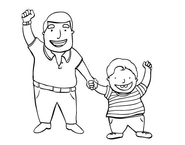 Resultado de imagen para padre e hijo dibujo para colorear