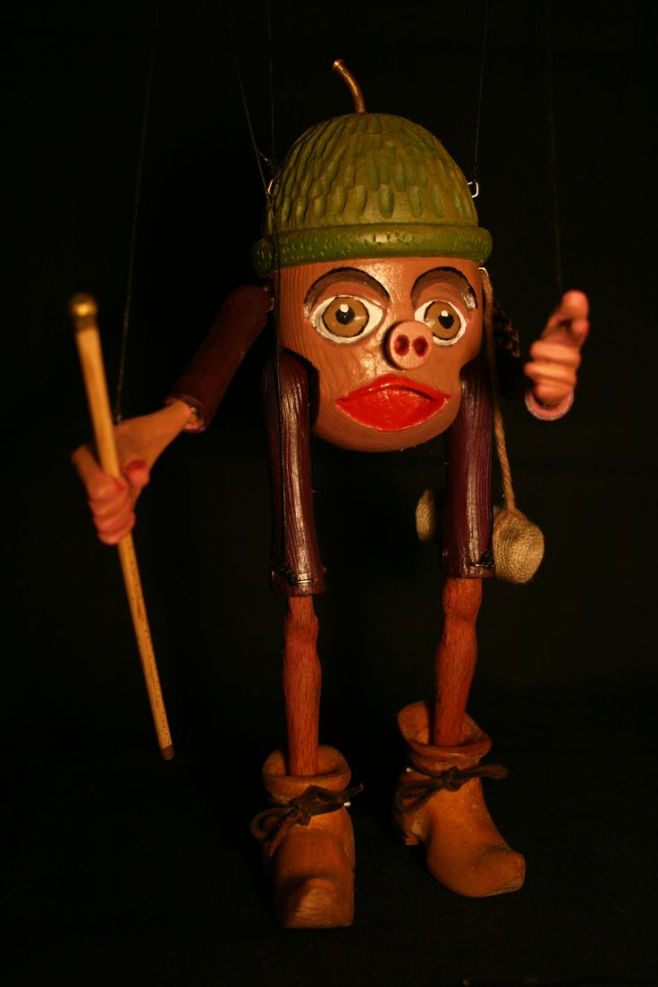 Chestnut Man Made From A Fence Post Top Puppets And