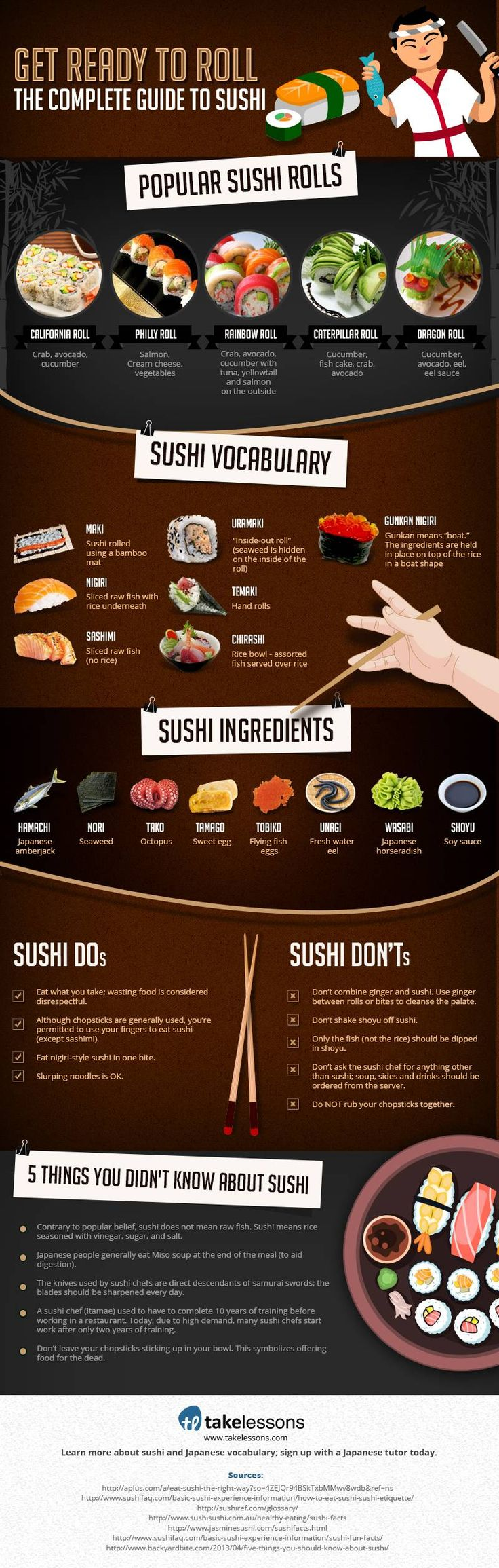 A Complete Guide to Sushi – #Infographics #sushi #food #japanese
