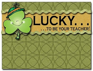 LUCKY to be your teacher postcards.  Free download from Oh My Little Classity Class.