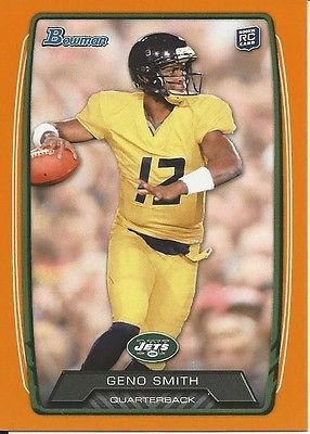 2013 13 Bowman Geno Smith RC 061/299 New York Jets Lot West Virginia