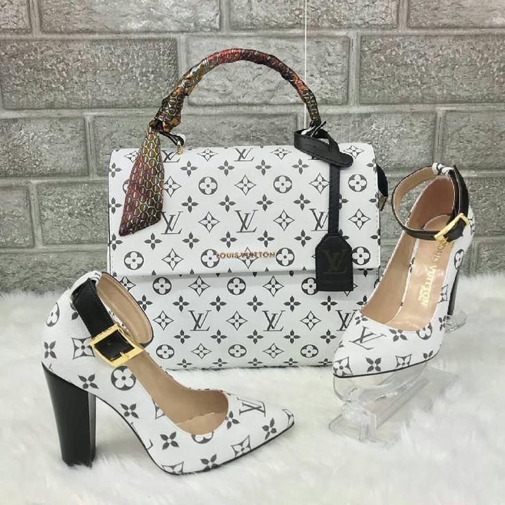 Louis Vuitton 2498 - Çanta, Kalın Topuklu Ayakkabı Kombin