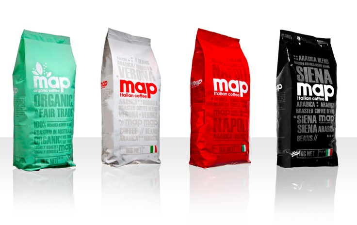 Coffee Beans: Map Coffee's range of 1kg coffee beans