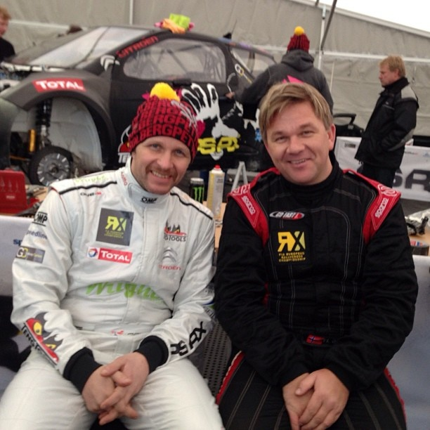 The Brothers are stil friends and ready for FIA European Rallycross Championship's first start in Lydden Hill, UK.