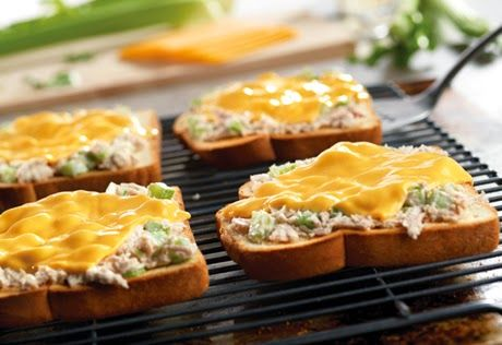 weight watchers recipes: Baked Tuna Melts 6 Points+ Per Serving