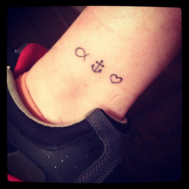 """My tattoo! (:   1 Corinthians 13:13   """"And now these three remain: faith, hope and love. But the greatest of these is love."""""""
