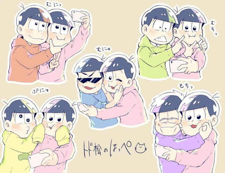 Taking selfies with Todomatsu/// aka. an excuse for all the brothers to squish todo's cheeks