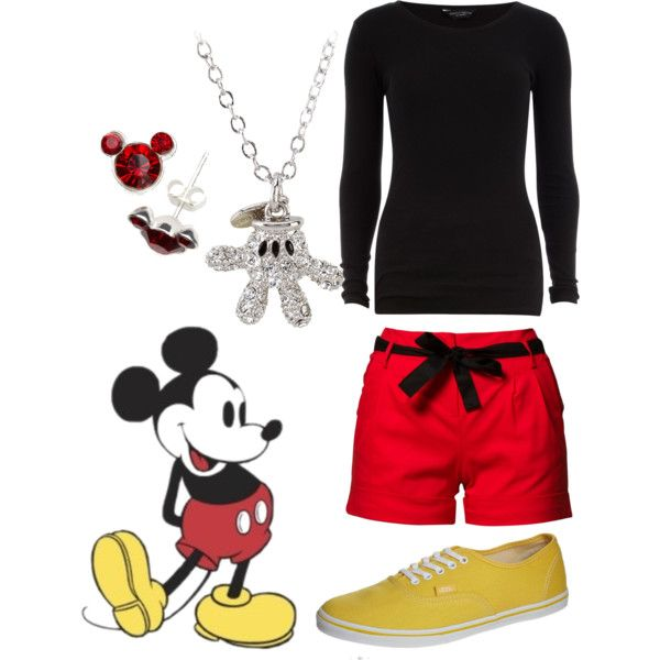 """Disney's Mickey Mouse Inspired Outfit ~ Casual"" by emilymorgan-2 on Polyvore"