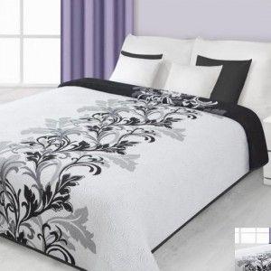 Obojstranný prehoz na posteľ so vzorom
