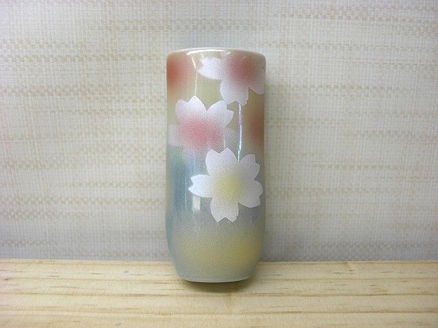 Kutaniyaki Wall Hanging Vase Kemonryou/Flower Pattern Made In Japan Tk-207
