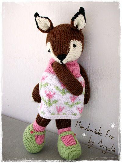 knitting a fox