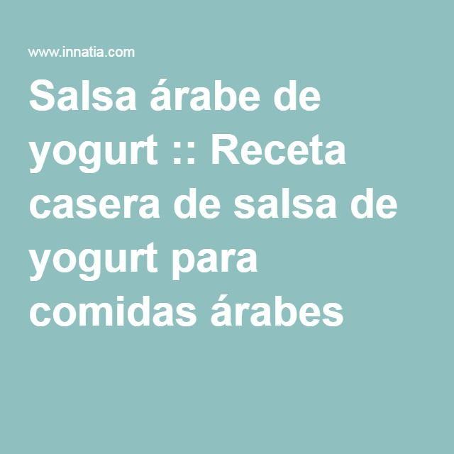 Salsa árabe de yogurt :: Receta casera de salsa de yogurt para comidas árabes